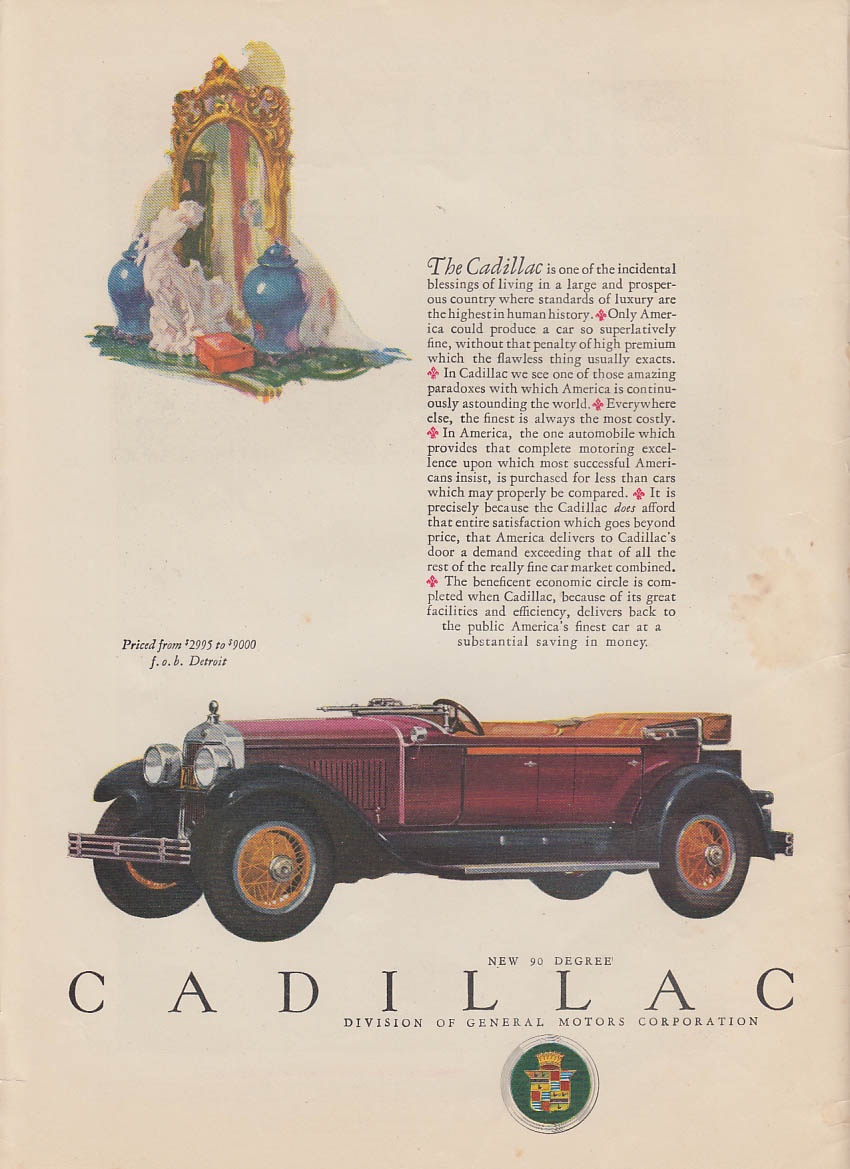 One of the incidental blessings of living Cadillac Phaeton ad 1927 LD