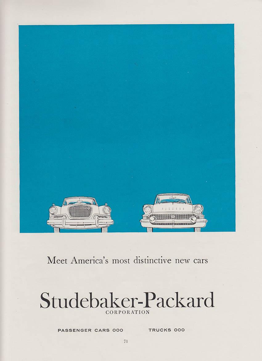 Meet America's most distinctive Studebaker Hawk & Packard Clipper ad 1957