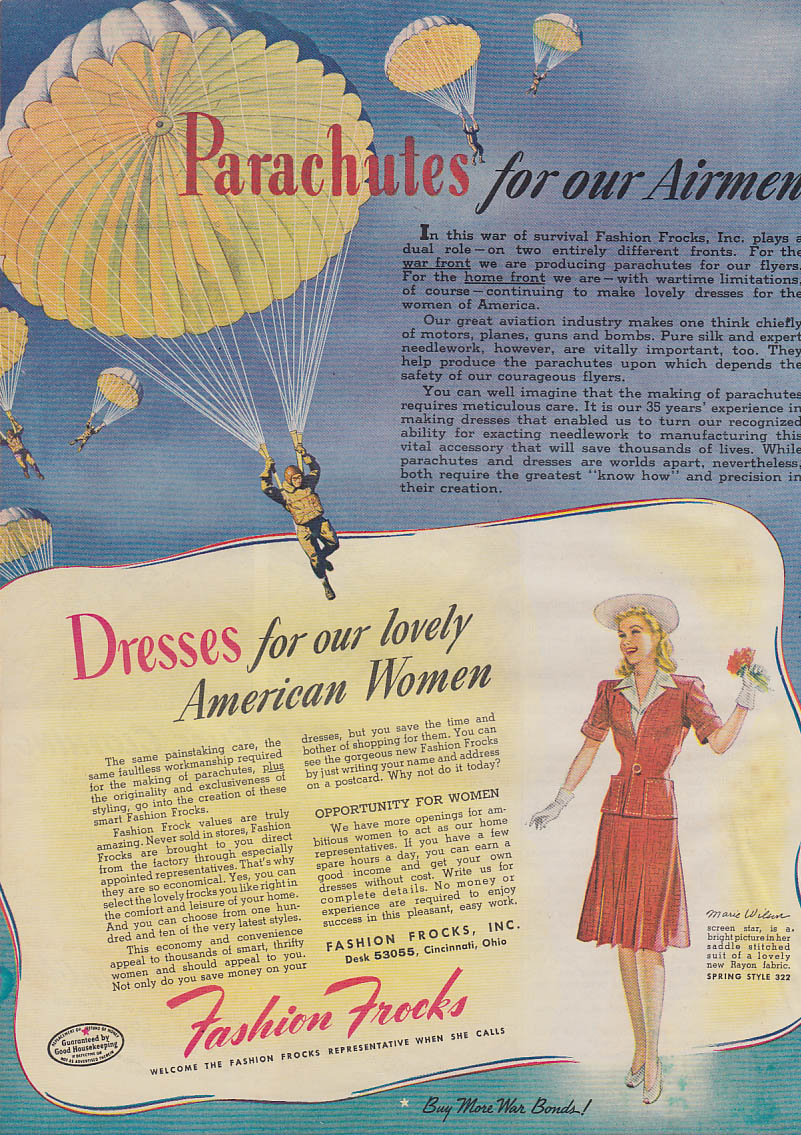 Parachutes for Airmen Dresses for American Women Fashion