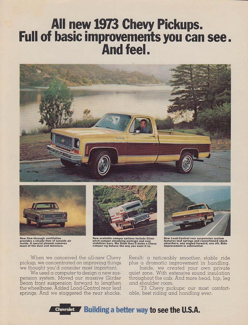 Basic improvements you can see & feel Chevrolet Cheyenne Pickup ad 1973 MT