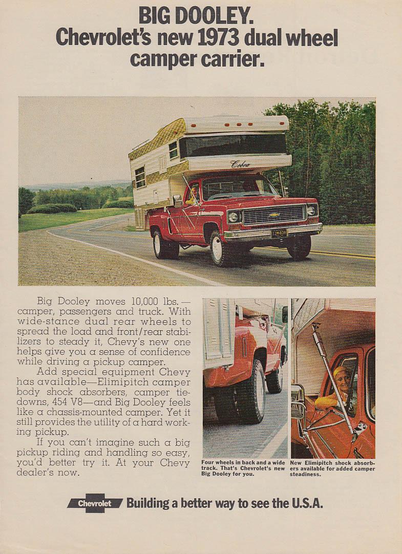 Big Dooley - Chevrolet's new dual wheel camper carrier ad 1973 PS