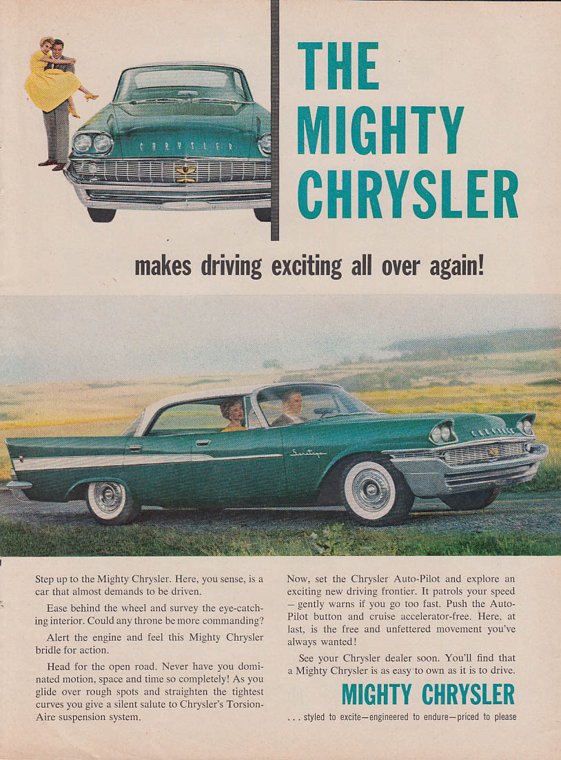 Image for Makes driving exciting all over again Chrysler Saratoga 4-dr HT ad 1958 T