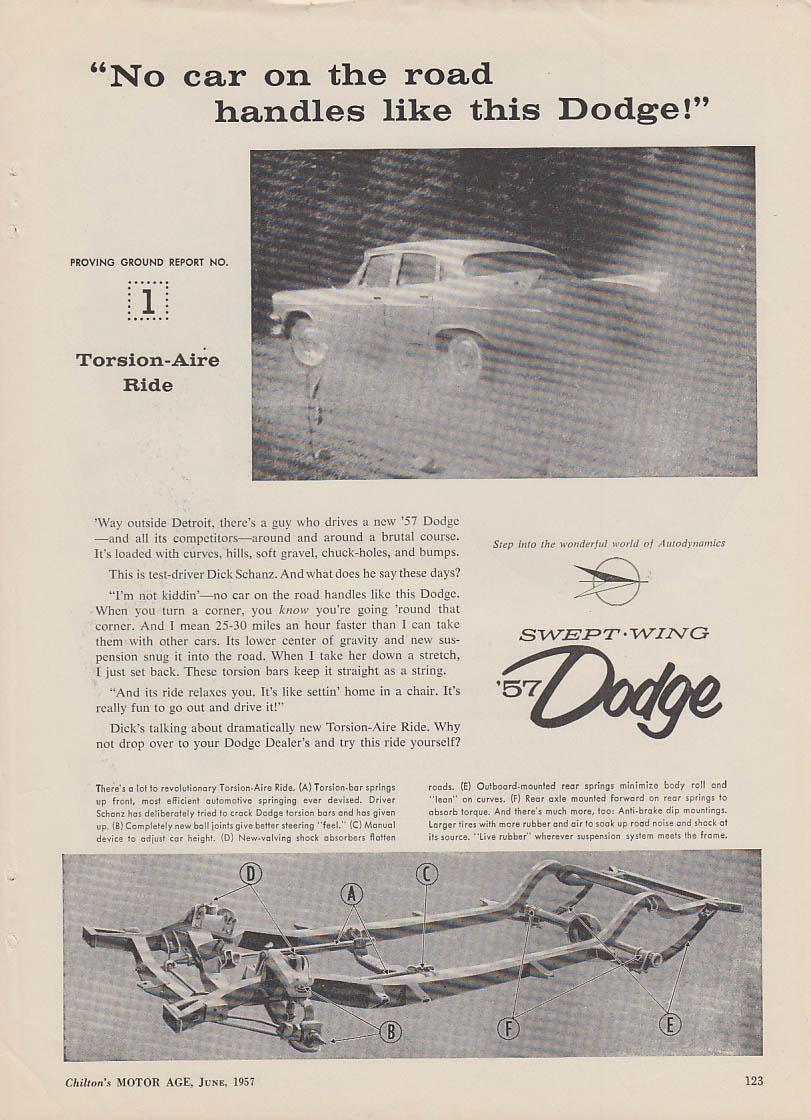 No car on thr road handles like this Dodge ad 1957
