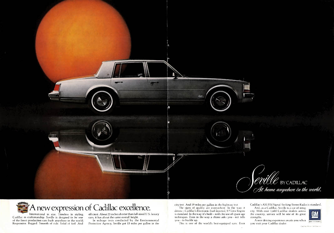 A new expression of Cadillac excellence: Seville ad 1975 NY