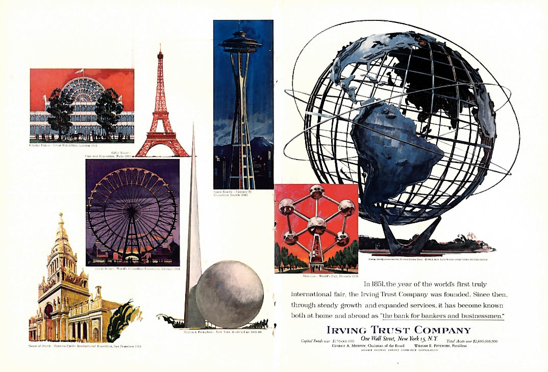 New York World's Fair Irving Trust Company ad 1964 NY