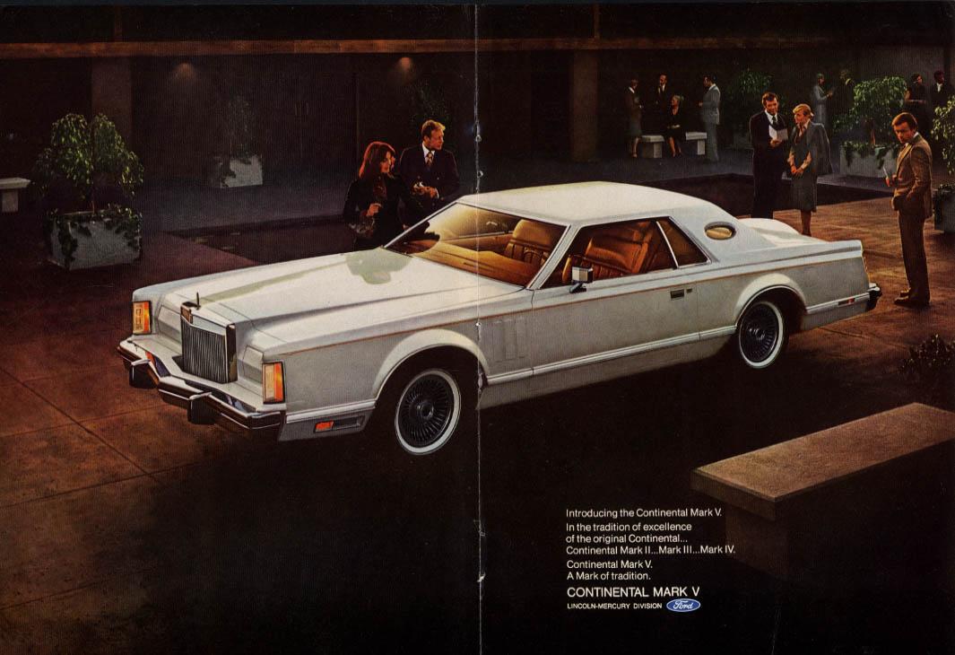 1940 Lincoln Continental introducing Continental Mark V ad 1977 NY