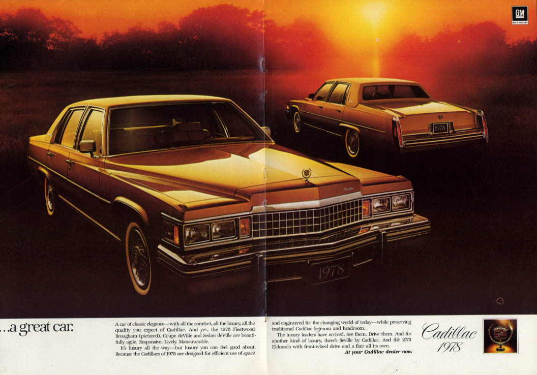 Behind a great name - a great car Cadillac Fleetwood Brougham ad 1978 NY