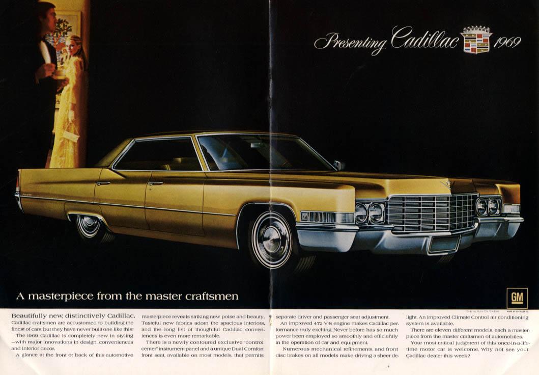 A masterpiece from master craftsmen Cadillac Sedan de Ville & Eldorado ad 1969