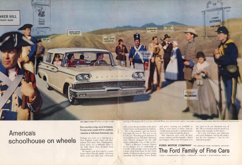 America's schoolhouse on wheels Mercury Country Cruiser ad 1959 NY