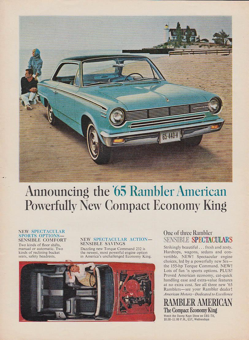 Powerfully New Compact Economy King AMC Rambler American ad 1965