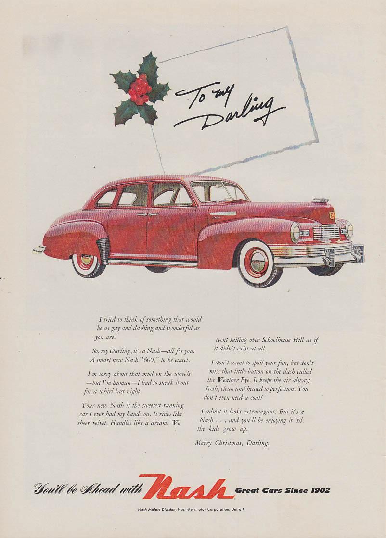 To my Darling - Nash 600 4-door Sedan for Christmas ad 1948 NW