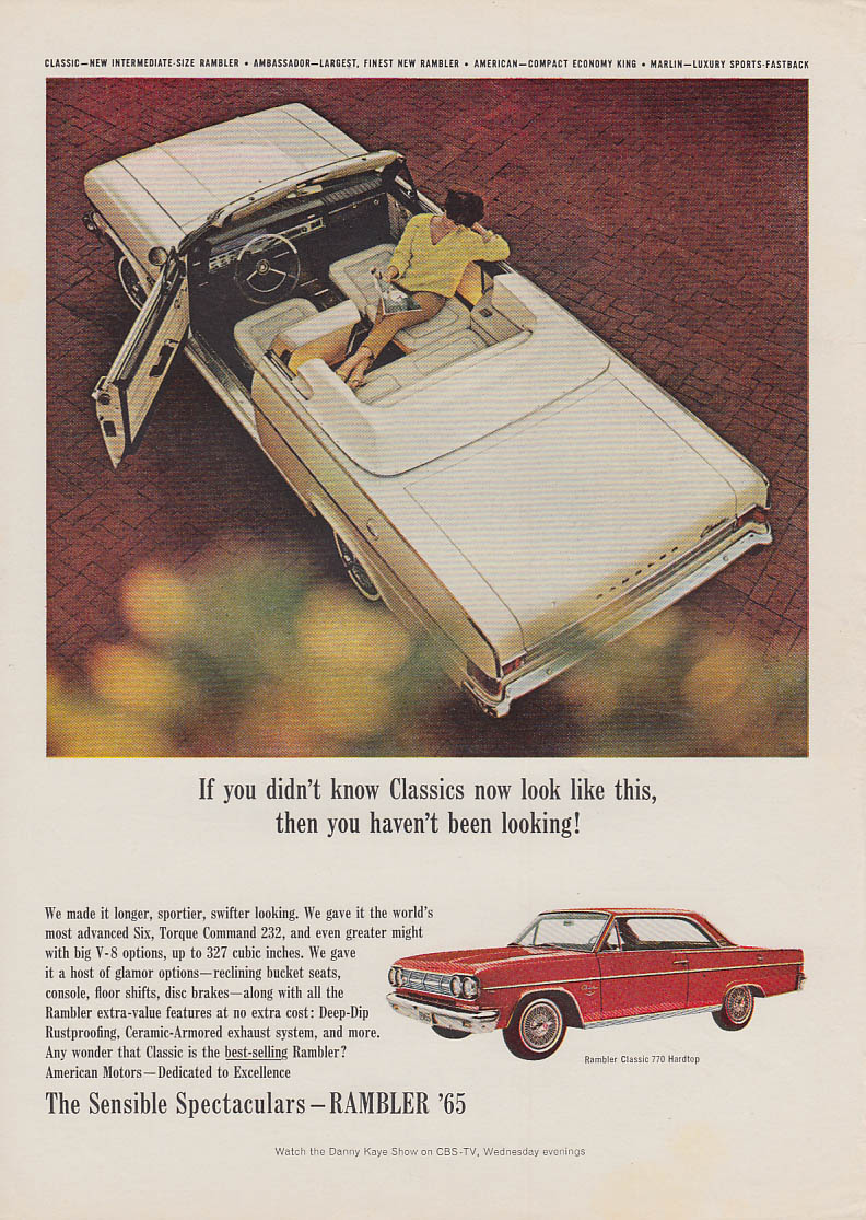 If you didn't know AMC Rambler Classic Convertibles look like this ad 1965 USN