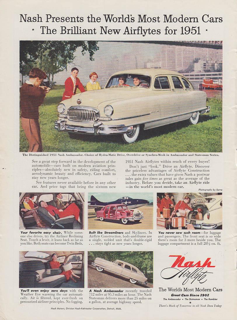 World's Most Modern Cars - Nash Airflyte Ambassador ad 1951 T