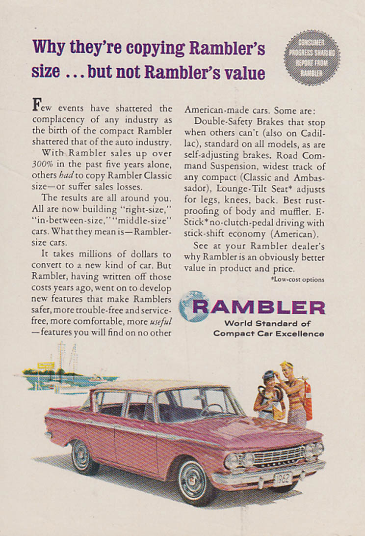 Image for Why they're copying Rambler's size but not Rambler's value ad 1962 RD