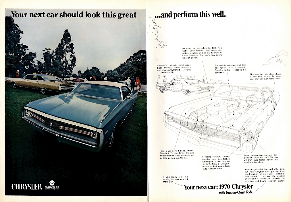 Image for Your next car should look this great & perform this well Chrysler 300 ad 1970 T