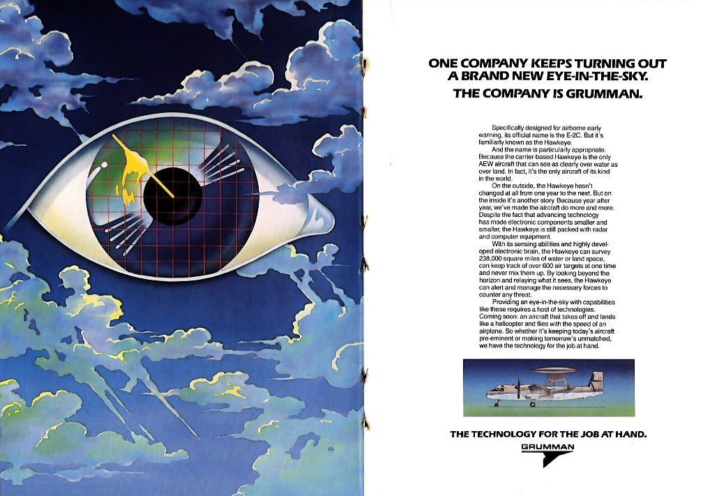 A Brand New Eye-in-the-Sky - Grumman E2C Hawkeye ad 1982 NY