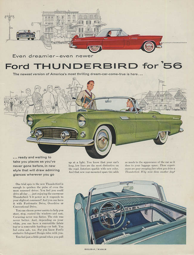 Image for Even dreamier - even newer Ford Thunderbird for 1956 ad H