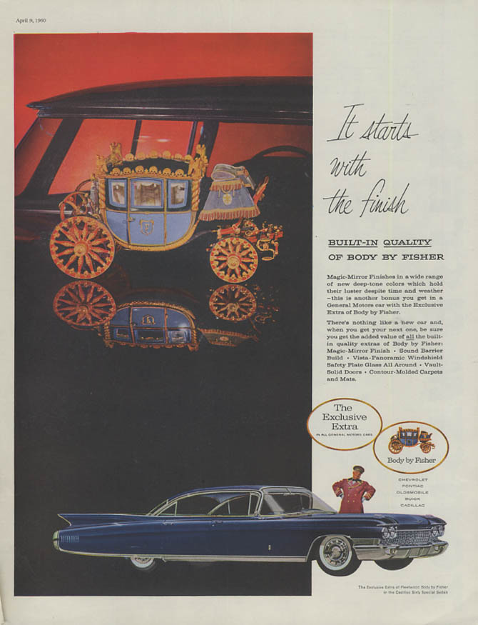 It starts with the finish 1960 Cadillac 4dr HT Body by Fisher ad 1960
