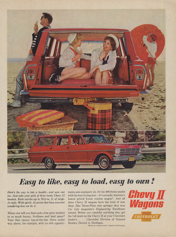 Easy to like easy to load easy to own Chevrolet Chevy II Wagon ad 1962 BHG