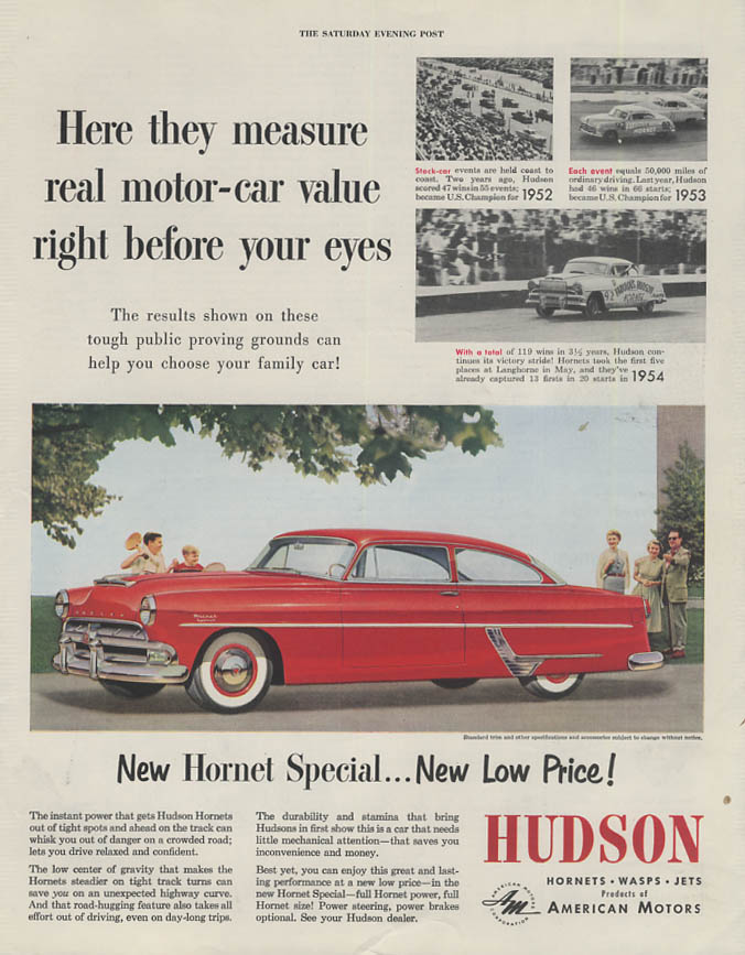 Measure motor-car value right before your eyes Hudson Hornet ad 1954 SEP