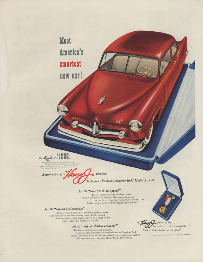 Meet America's smartest new car! Kaiser-Frazer Henry J ad 1951 H