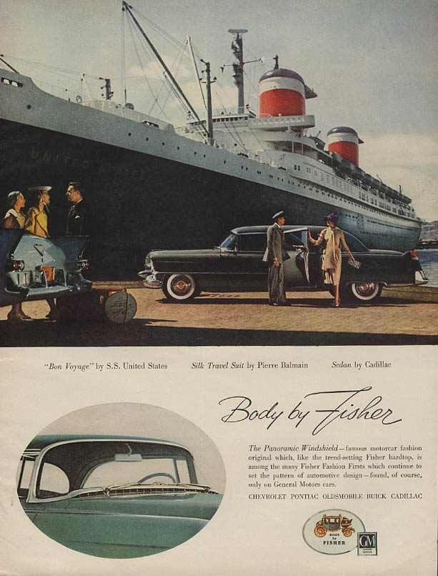 Cadillac Limousine Body by Fisher ad 1955 S S United States BHG