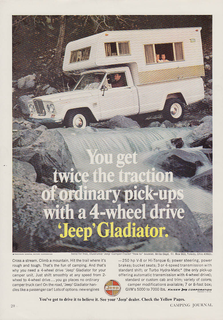 Image for Twice the traction of ordinary pickups Jeep Gladiator ad 1966 CJ