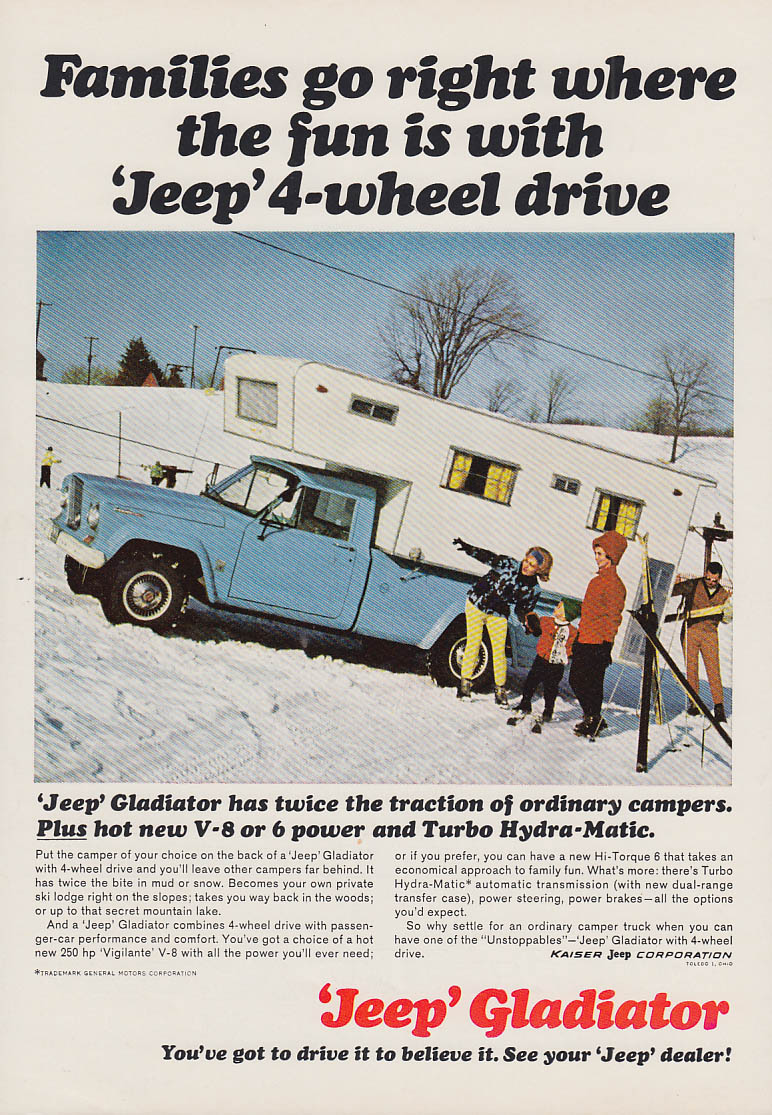 Image for Families go right where the fun is Jeep Gladiator ad 1966 CJ