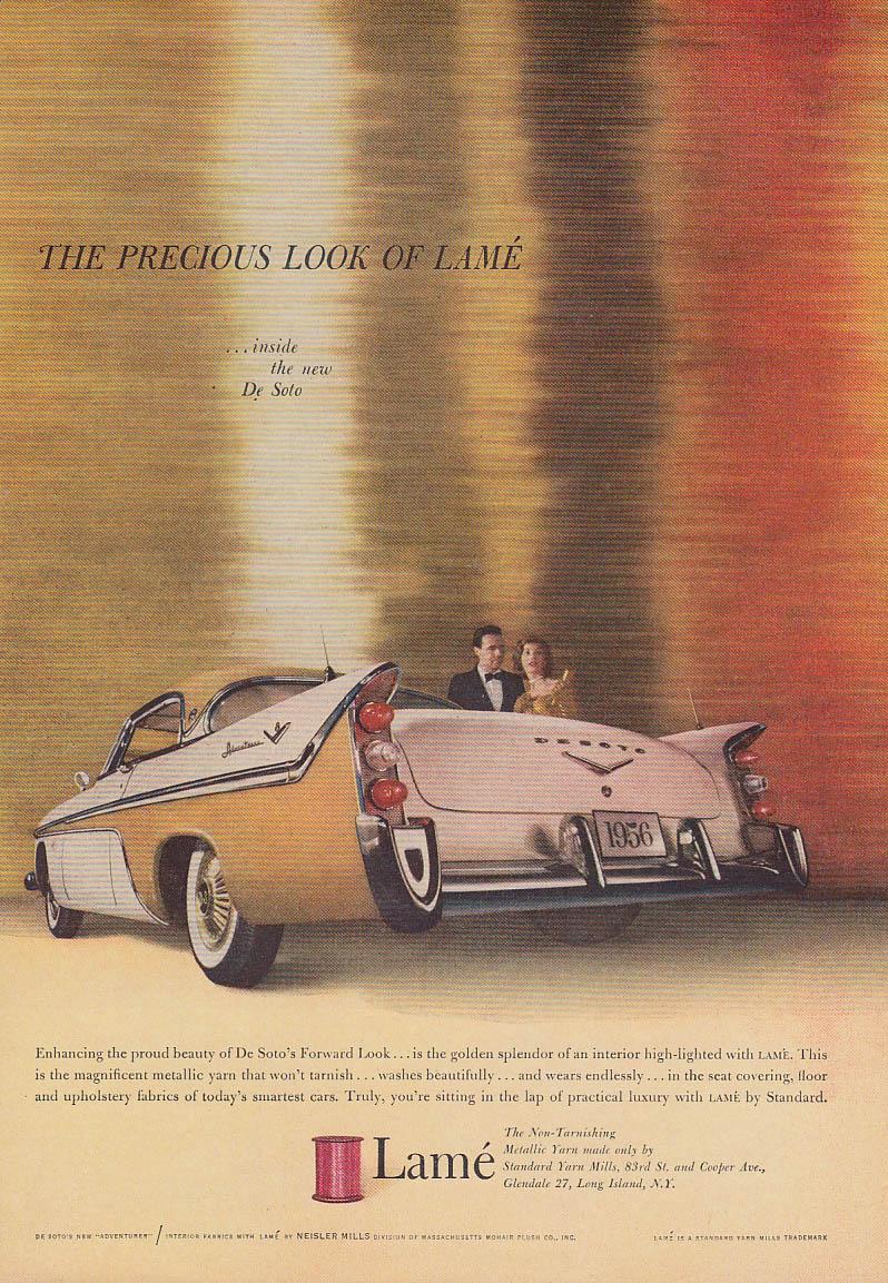 Precious Look of Lame De Soto Adventurer ad 1956 NY
