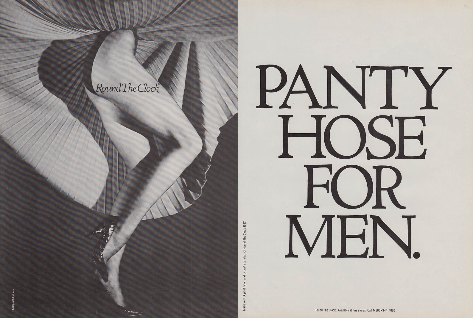 round the clock pantyhose for men