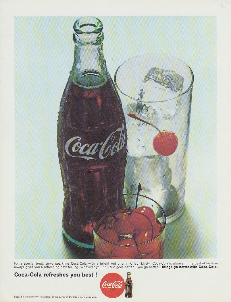 For a special treat serve sparkling Coca-Cola ad 1966 Belgium