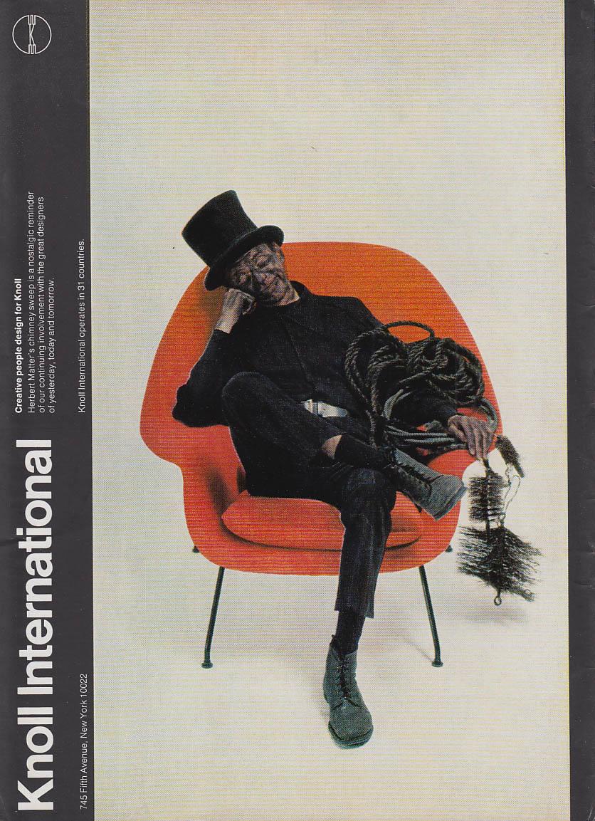 Image for Knoll Associates #70 Eero Saarinen Chair MAGAZINE AD 1973 NY chimneysweep