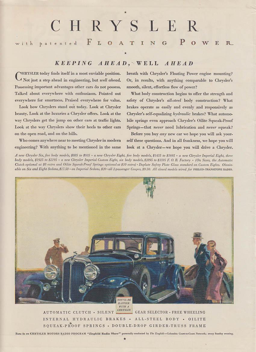 Image for Keeping ahead, well ahead - Chrysler 4-door sedan ad 1932 LD