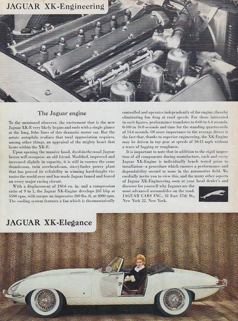 Jaguar XK-E Engineering - The Jaguar engine ad 1962 RT