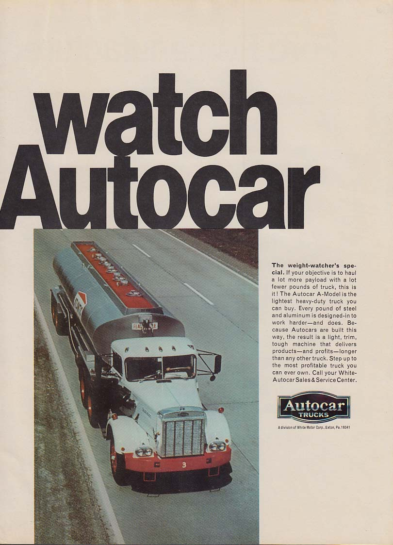 Image for Watch Autocar - The weight-watcher's special A-Model tractor ad 1969