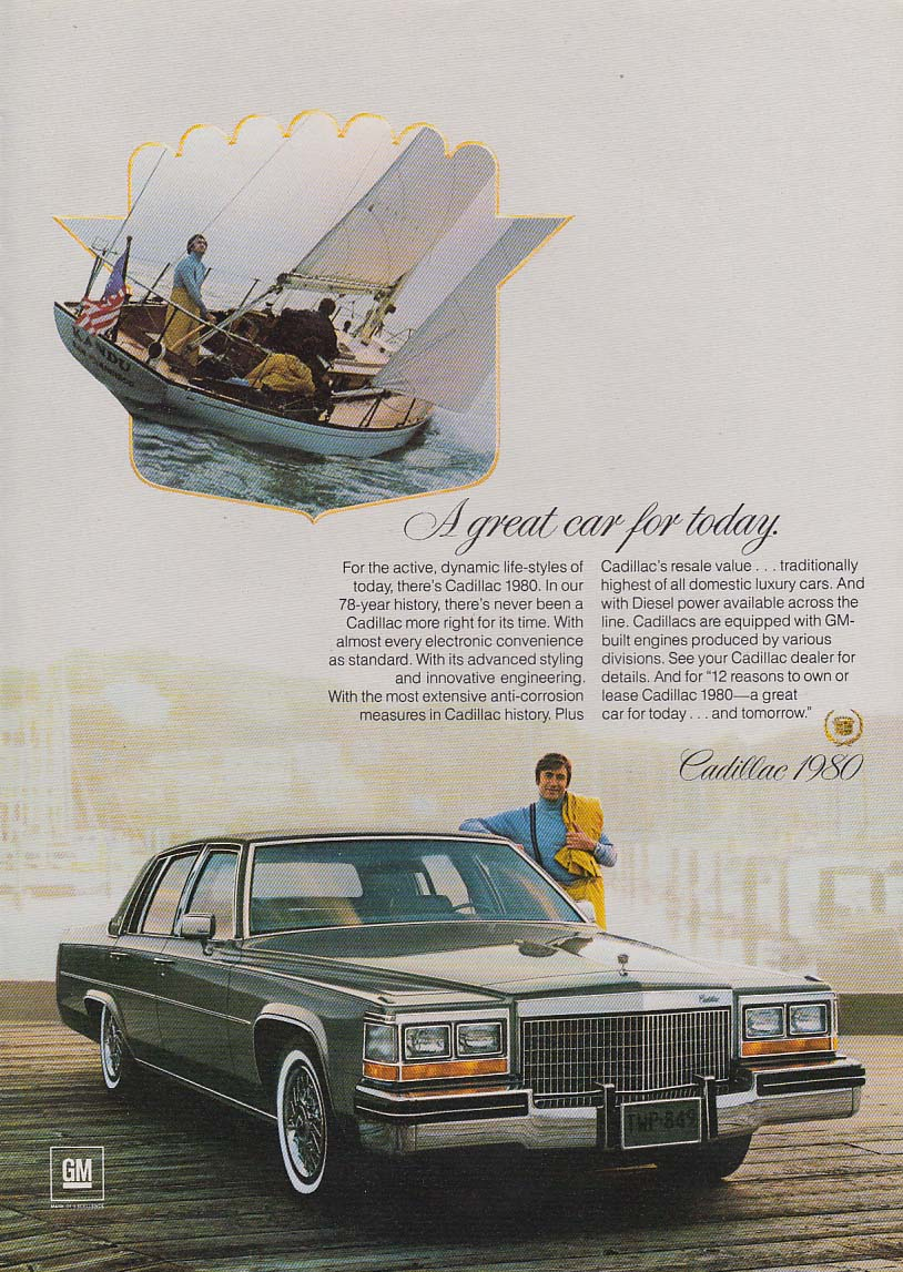 A great car for today. Cadillac Sedan de Ville ad 1980 NY