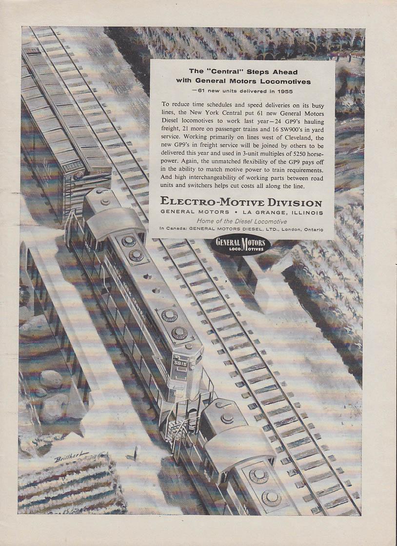 New York Central steps ahead with GM EMD GP9 diesel locomotive ad 1946