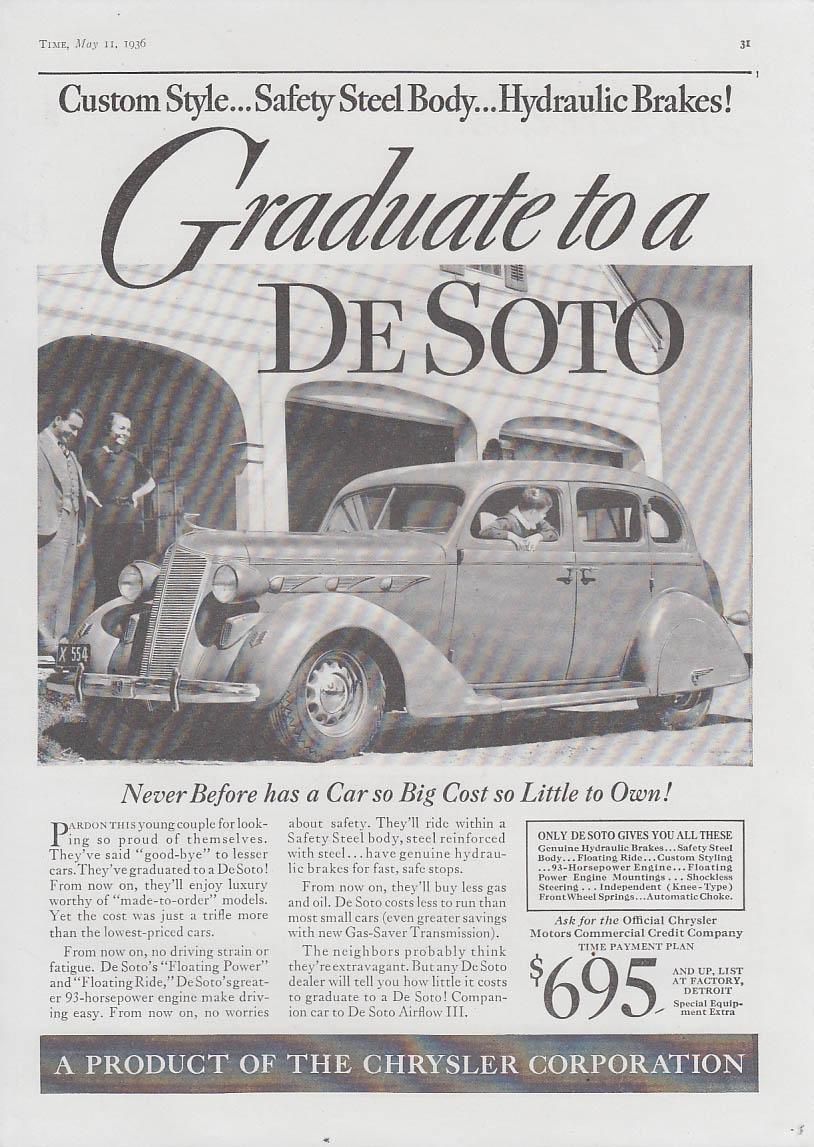 Custom Style Hydraulic Brakes! Graduate to a De Soto ad 1936 T