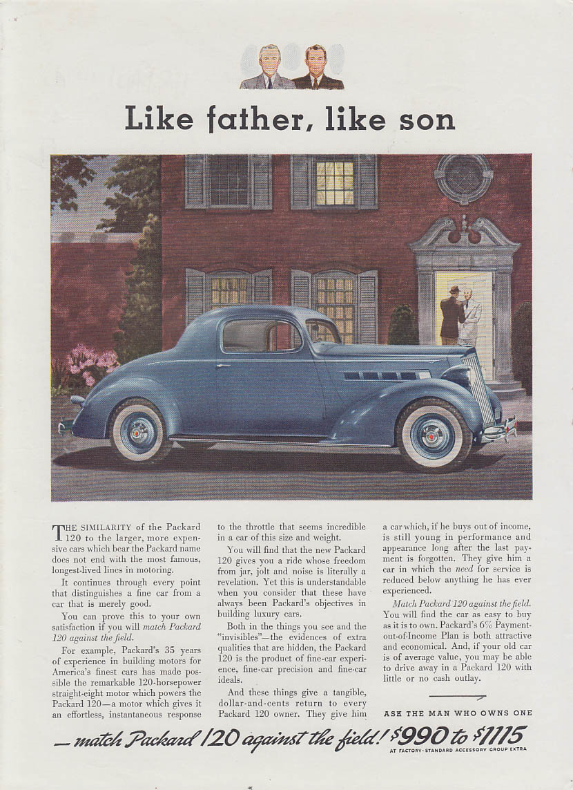 Like father, like son - Packard 120 Coupe ad 1936 T