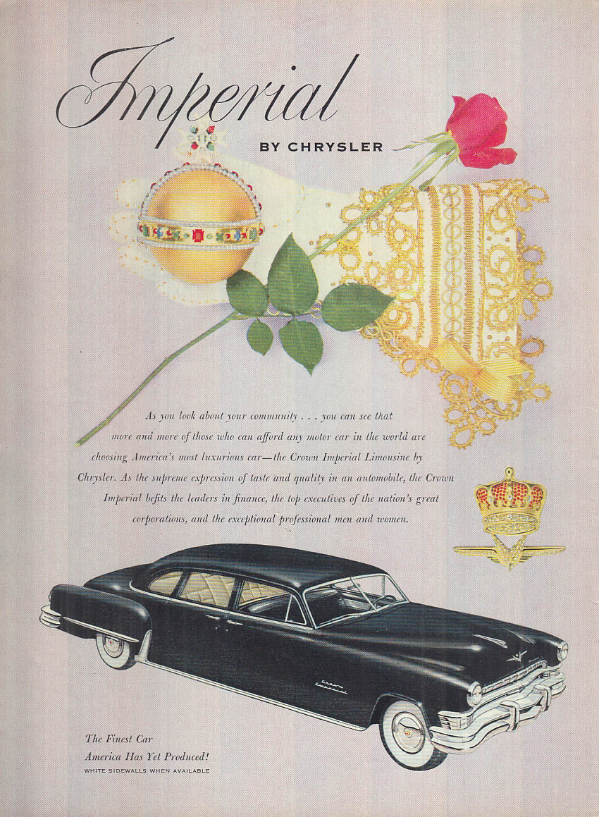 Image for As you look about your community - Crown Imperial by Chrysler ad 1952 NY