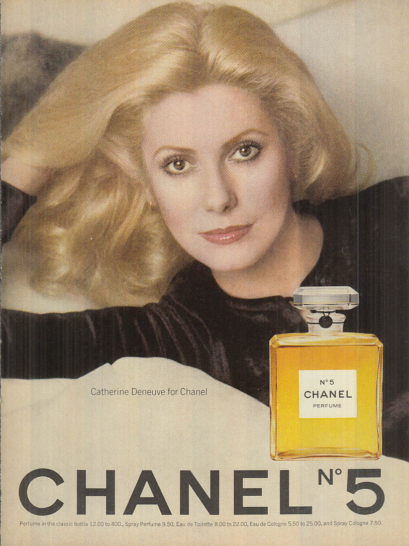 Catherine Deneuve for Chanel No 5 perfume ad1976 Cos