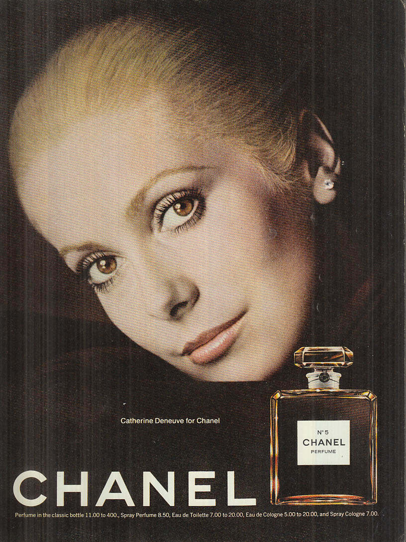 Catherine Deneuve for Chanel No 5 perfume ad 1974 #2 Glamour