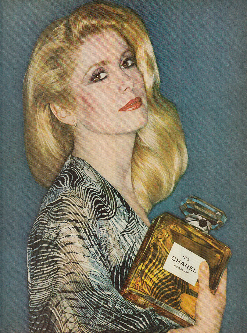 Catherine Deneuve for Chanel No 5 perfume ad 1977 Glamour