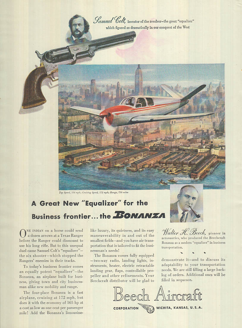 A Great new Equalizer for the Businesss frontier - Beechcraft Bonanza ad 1947 T