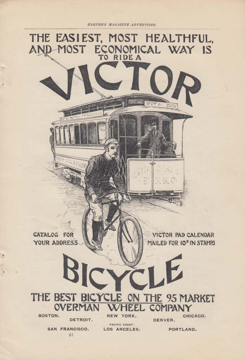 Ride a Victor Bicycle - Overman Wheel Company 1895