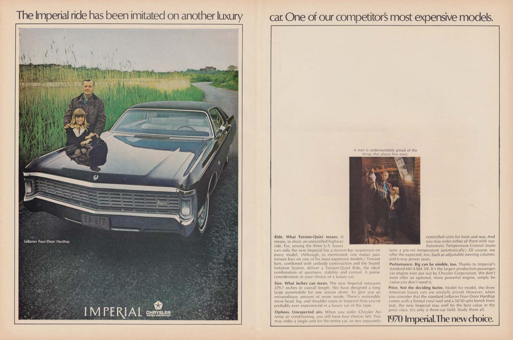 Image for The Imperial ride has been imitated Chrysler ad 1970 Ven