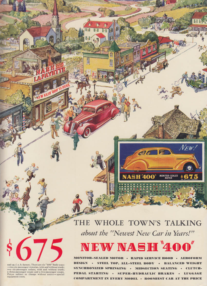 The Whole Town's Talking about the new Nash 400 ad 1935 NY