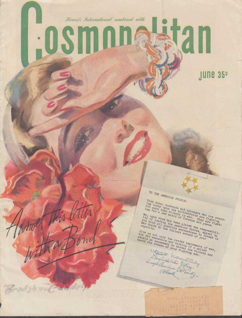 COSMOPOLITAN COVER 1940s Bradshaw Crandell pretty girl illustration