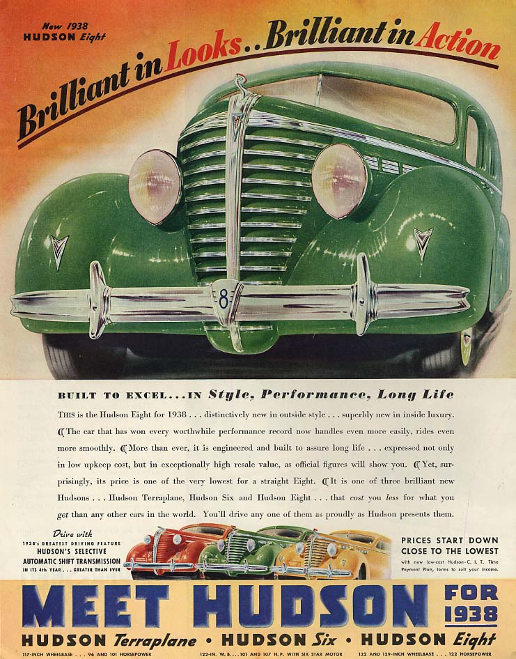 Brilliant in Looks & Brilliant in Action - Hudson Eight ad 1948 SEP
