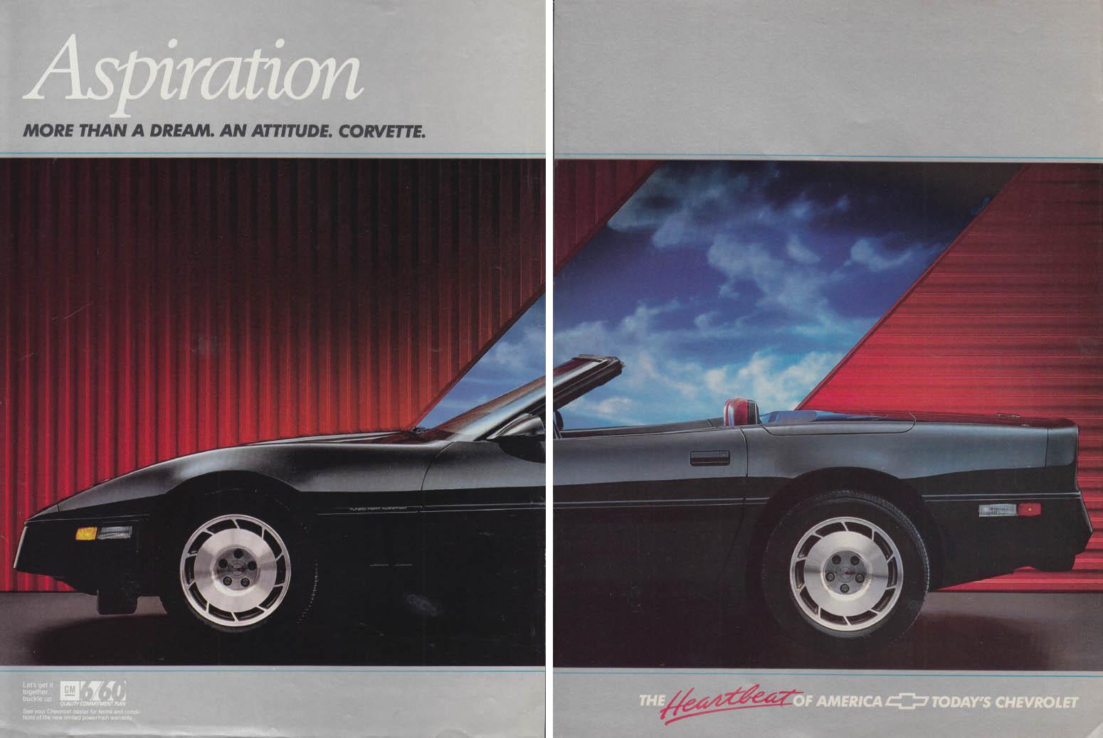 Aspiration - More than a dream, an attitude Corvette ad 1987 C&D